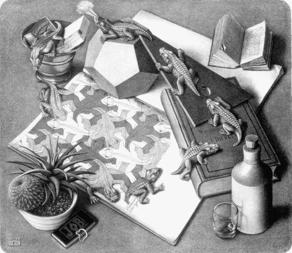 M C Escher Reptiles