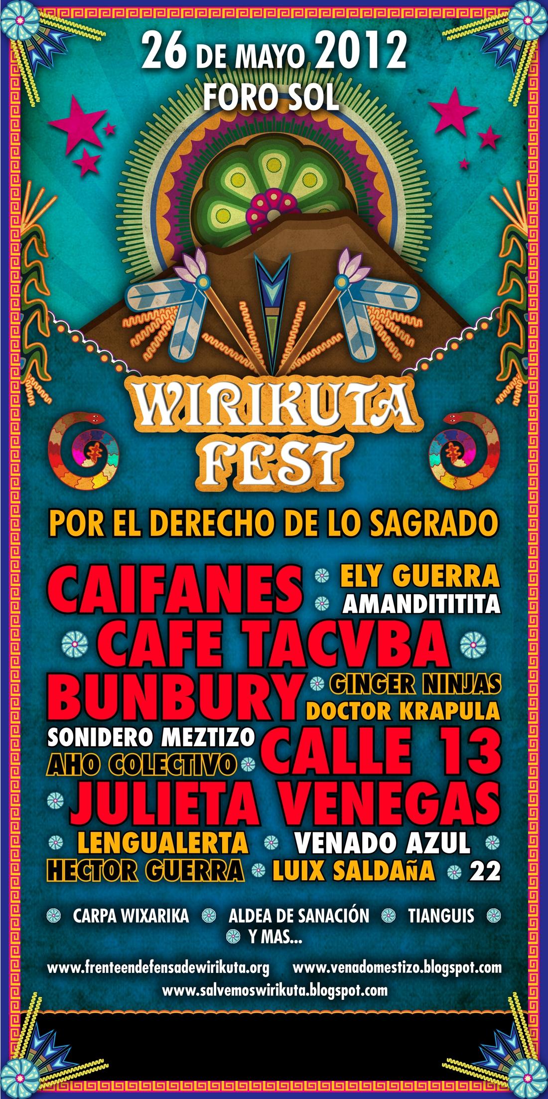 Flyer Wirikuta Fest